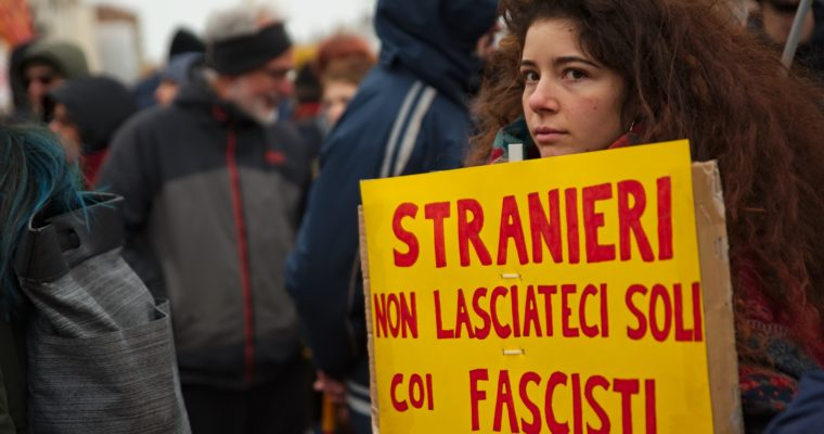 Presidio antifascista a Venezia 2018-02-18
